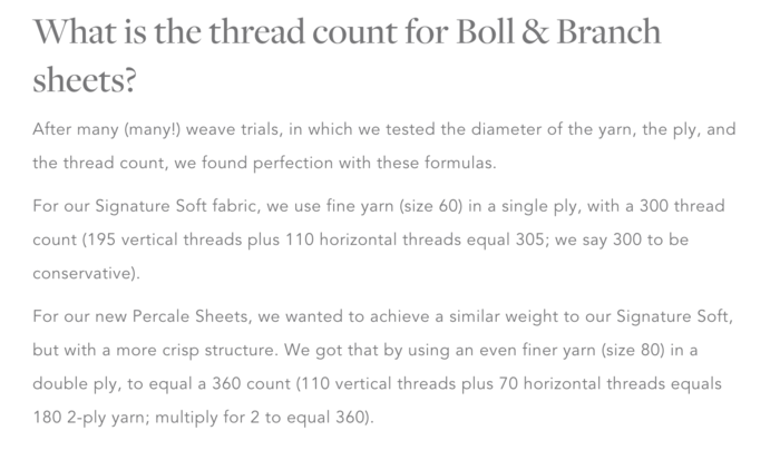 Boll Branch Has A Great Detailed Blog Post About The In S And Out Of Thread Count Here